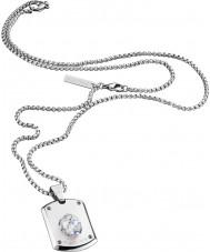 Police 25552PSS-01 Miesten kristalli hopeinen teräs kaulakoru Swarovski Crystal
