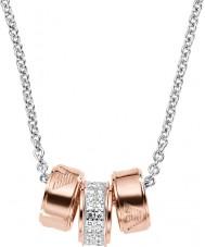 Emporio Armani EG3045040 Hyvät allekirjoitus Rose Gold kaulakoru hopeinen Rolo ketju